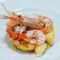 Entrèe_Percorso-rivisitato_Catalana-gamberi,-patate,-marinda,-sedano,-cipolla-Tropea_zani