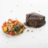 Secondo_Percorso celiaci e lattosio_Filetto manzo aceto balsamico caponata verdure_zani